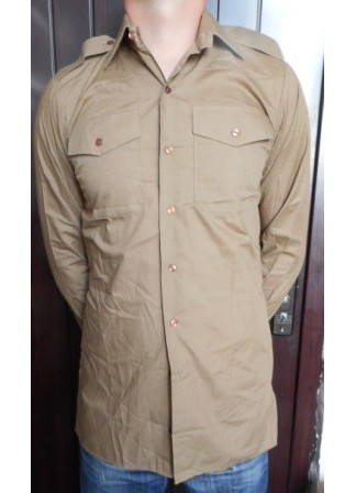 Рубашка, Англия, бежевая, длинный рукав, б/у